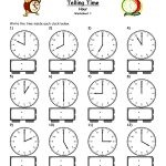 Telling Time Worksheets   Google Search | L'heure | Pinterest   Free Printable Telling Time Worksheets
