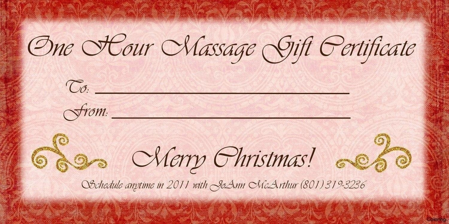 Template: Massage Gift Voucher Template Within Couples Massage Gift - Free Printable Massage Gift Certificate Templates