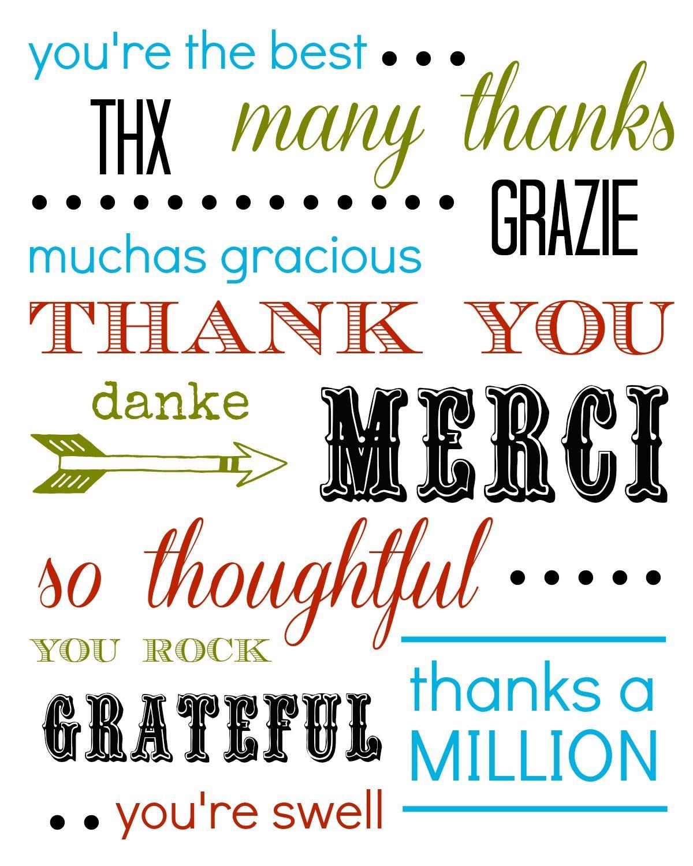 Thank You Card Free Printable | Printables And Quotes | Pinterest - Free Printable Thank You