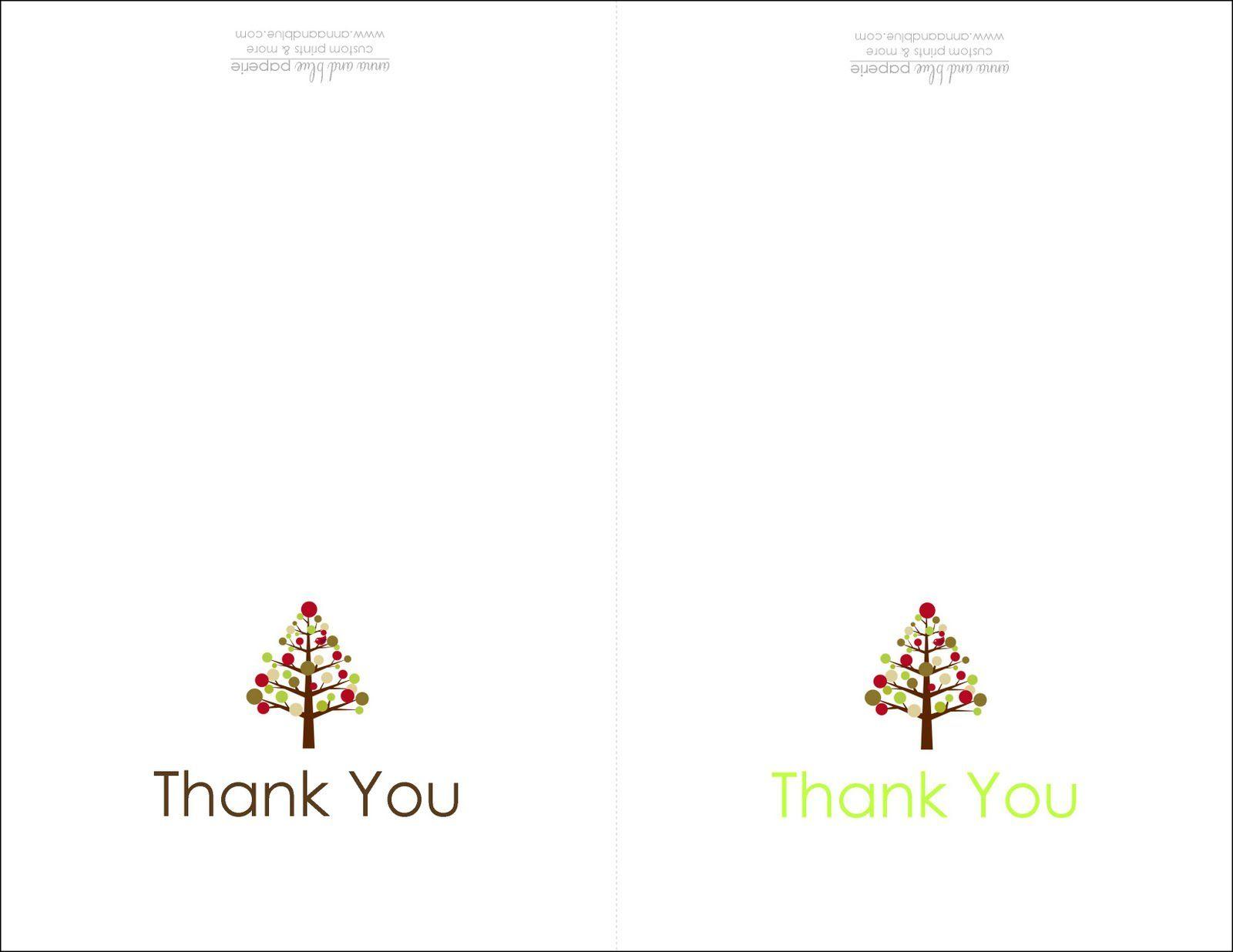 Thank You Cards Printable | Printable | Free Printable Christmas - Christmas Thank You Cards Printable Free