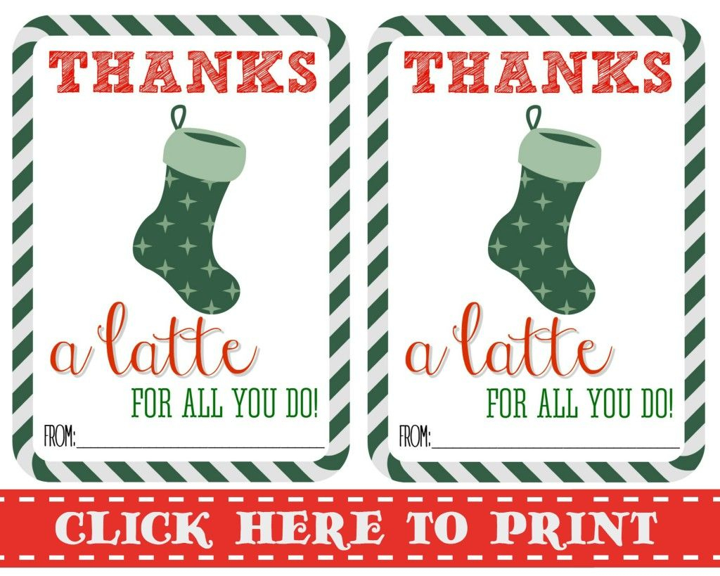 Thanks A Latte Free Printable | Gift Cards | Pinterest | Thanks A - Thanks A Latte Free Printable Tag