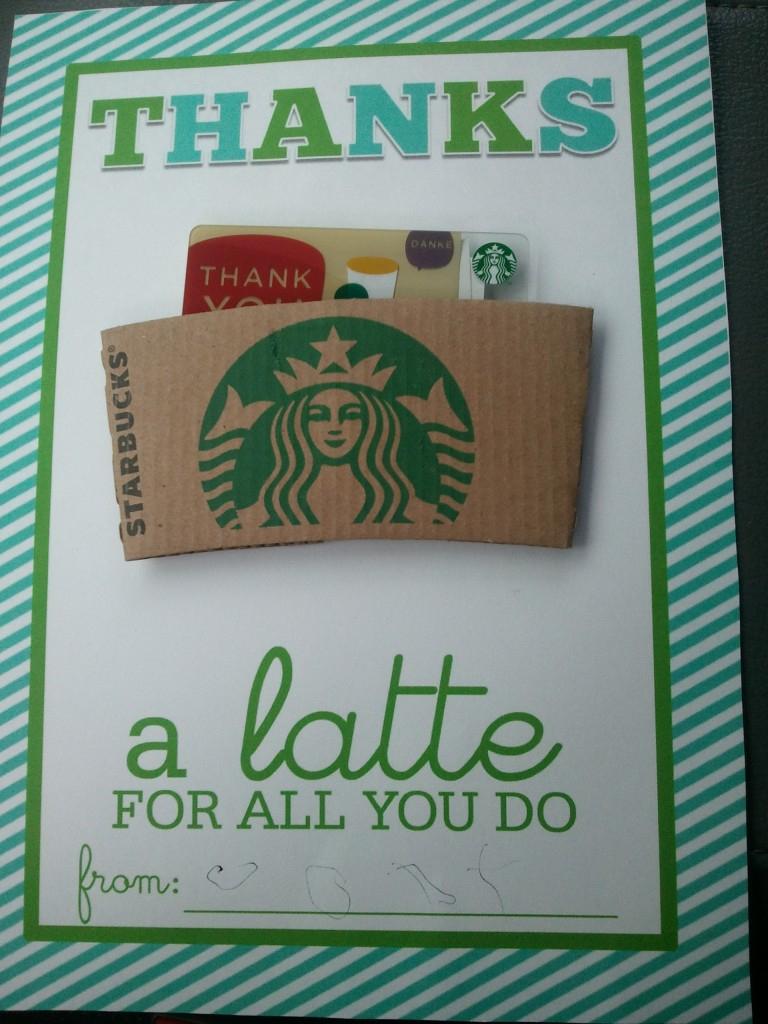 Thanks A Latte Printable - Motherhood Support - Thanks A Latte Free Printable Tag