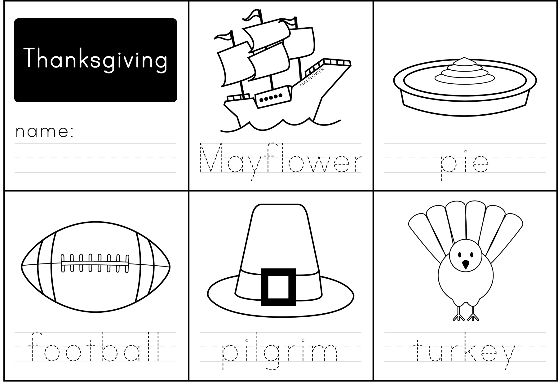 Thanksgiving Activities - Paging Supermom - Free Printable Kindergarten Thanksgiving Activities