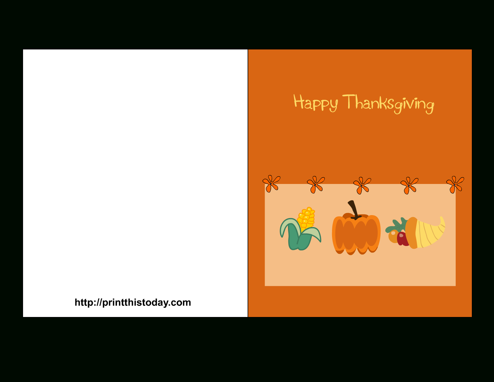 Thanksgiving Black And White Stock Card For Kids Printable - Rr - Free Printable Thanksgiving Cards