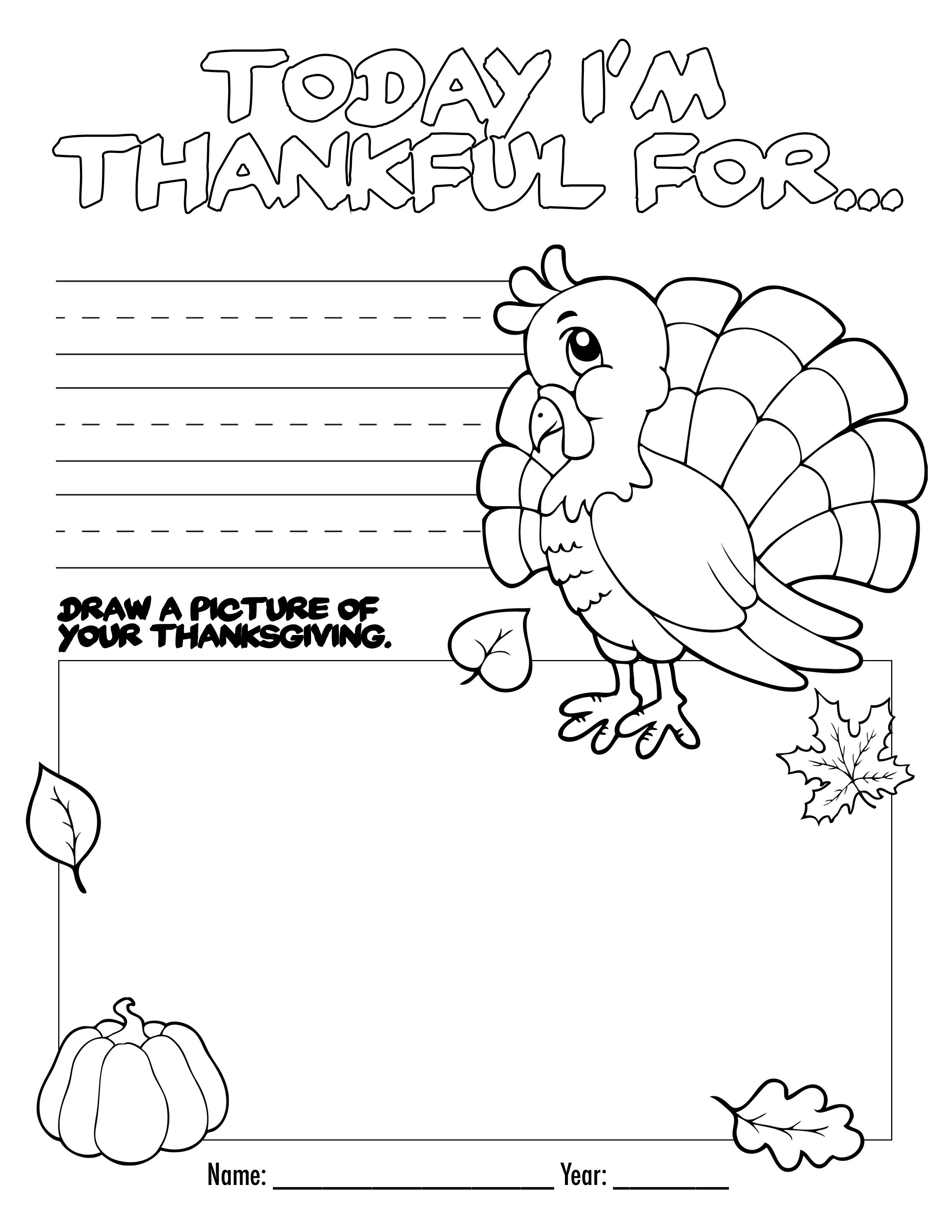 Thanksgiving Coloring Book Free Printable For The Kids! | Bloggers - Free Printable Kindergarten Thanksgiving Activities