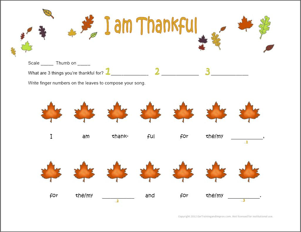 Thanksgiving Music Worksheets - 9 Fun Free Printables For Kids - Beginner Piano Worksheets Printable Free