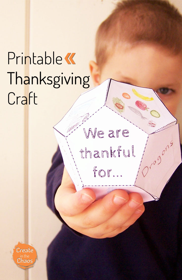 Thanksgiving Printable - Create In The Chaos - Free Printable Thanksgiving Crafts For Kids