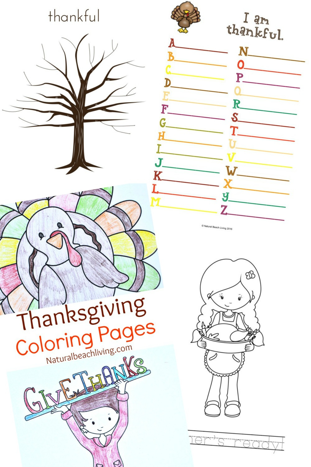 Thanksgiving Printables For Kids - Natural Beach Living - Free Printable Thanksgiving Crafts For Kids