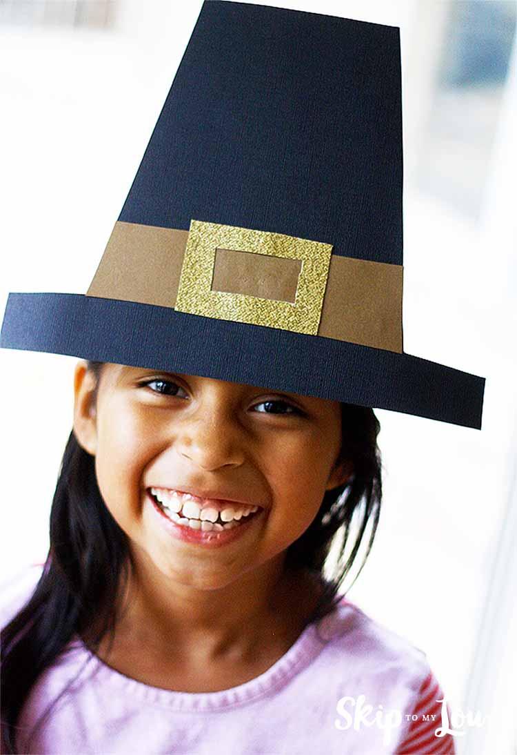 Thanksgiving   Skip To My Lou - Free Printable Pilgrim Hat Pattern