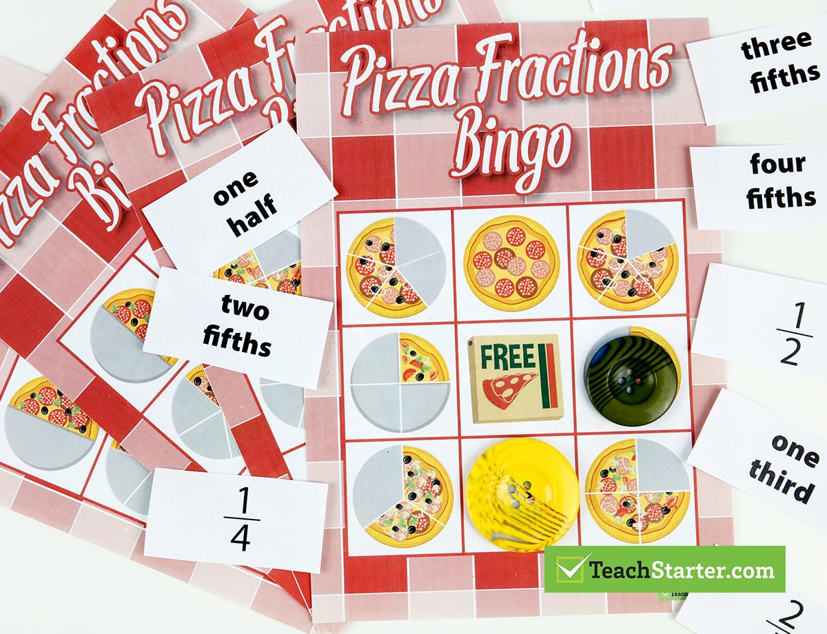The 10 Best Primary School Classroom Bingo Games! - Fraction Bingo Cards Printable Free