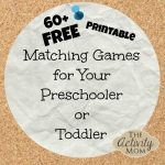 The Activity Mom   Free Printable Matching Games   Free Printable Toddler Matching Games