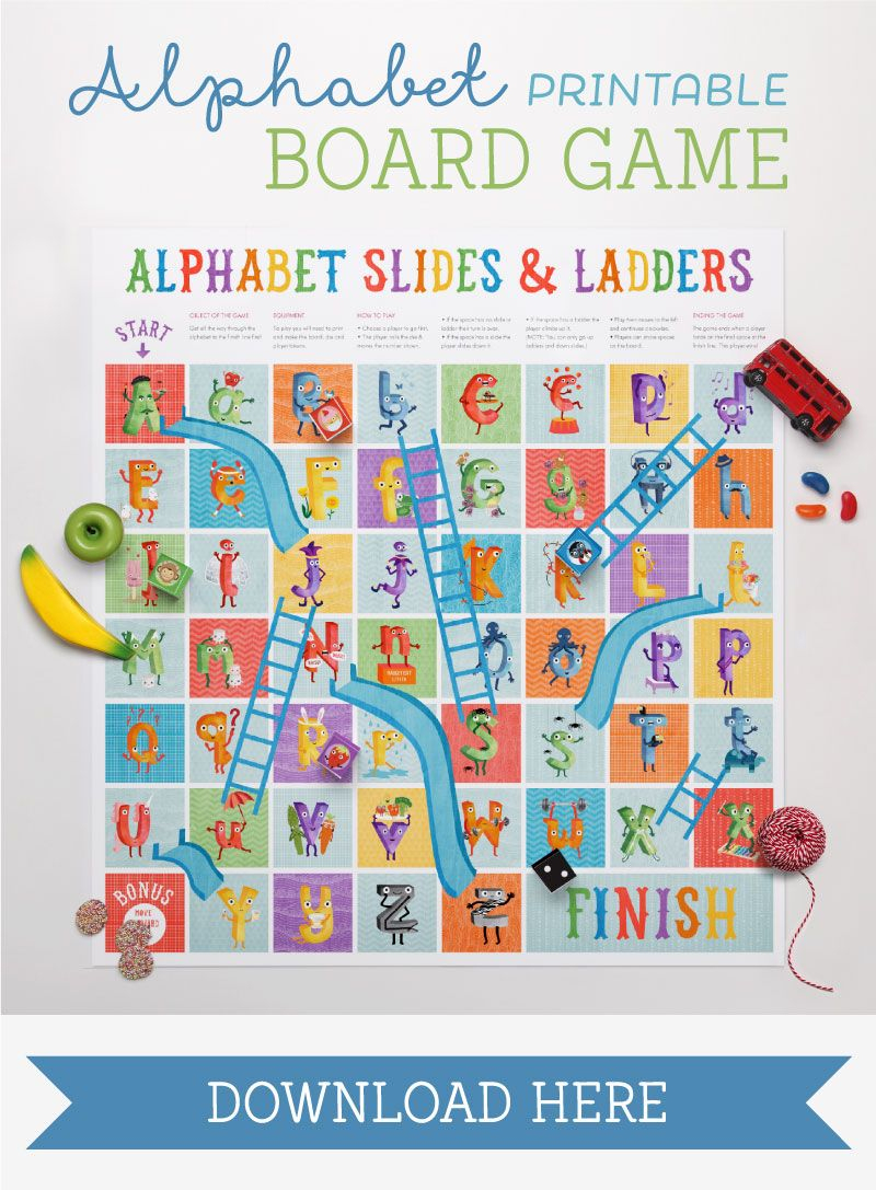 The Amazing Alphabet Printables & Storybook   Play&learn   파닉스 - Free Printable Alphabet Board Games