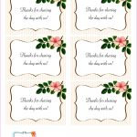 The Beautiful Wedding Favor Tags As Our Identity: Free Printable   Free Printable Wedding Thank You Tags