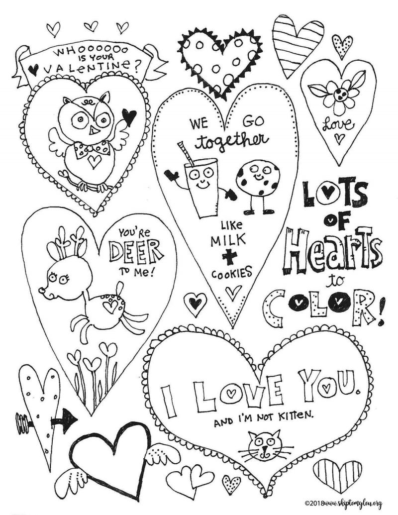 The Best Free Valentines Day Coloring Pages | Skip To My Lou - Free Printable Valentines Day Coloring Pages