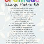 The Best Gratitude Scavenger Hunt For Kids And Adults   Natural   Free Printable Treasure Hunt Games