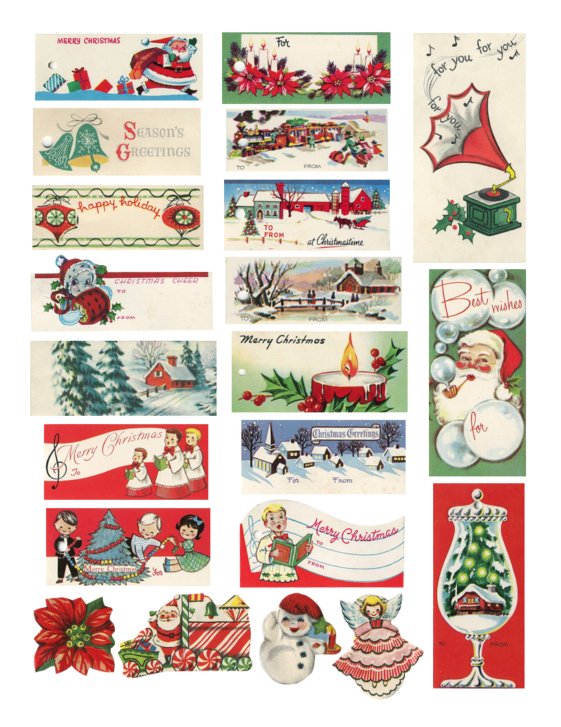 The Cheeky Seagull: Free Printable Vintage Christmas Tags!! - Free Printable Vintage Christmas Tags For Gifts
