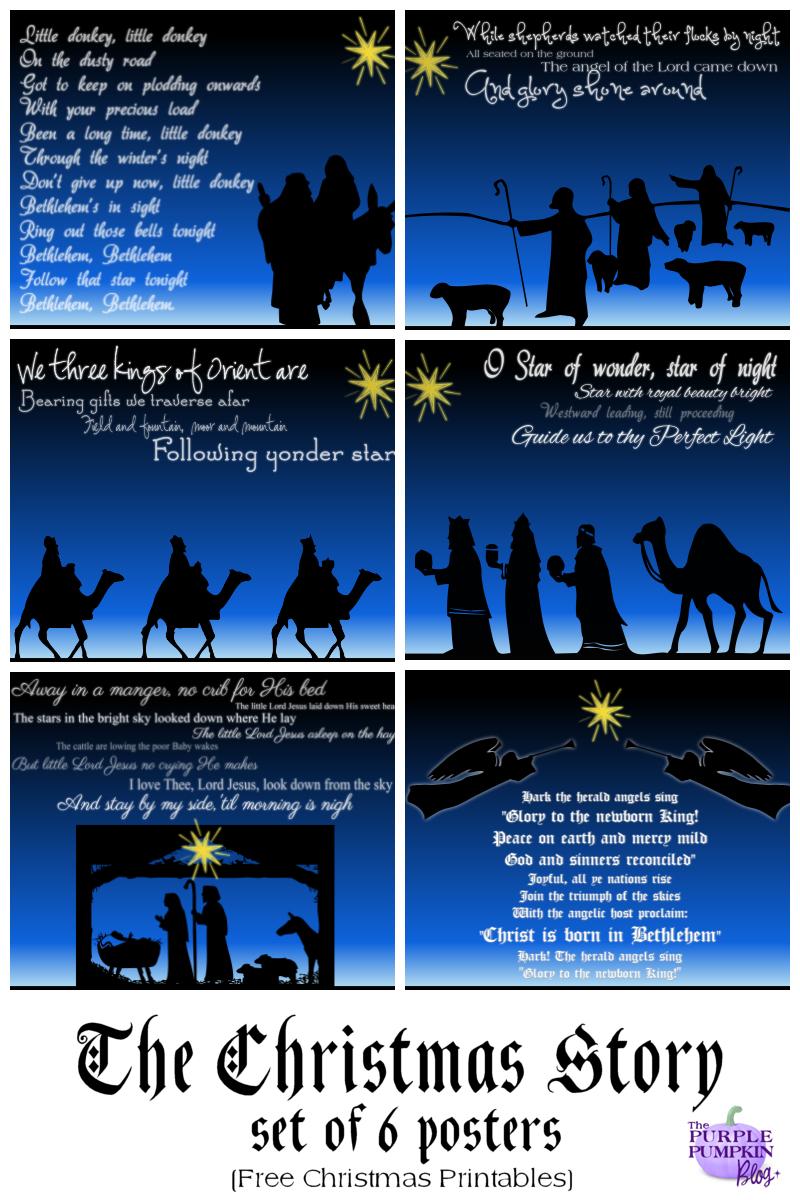 The Christmas Story Set Of 6 Posters - Free Printables   Graphics - Free Printable Nativity Story