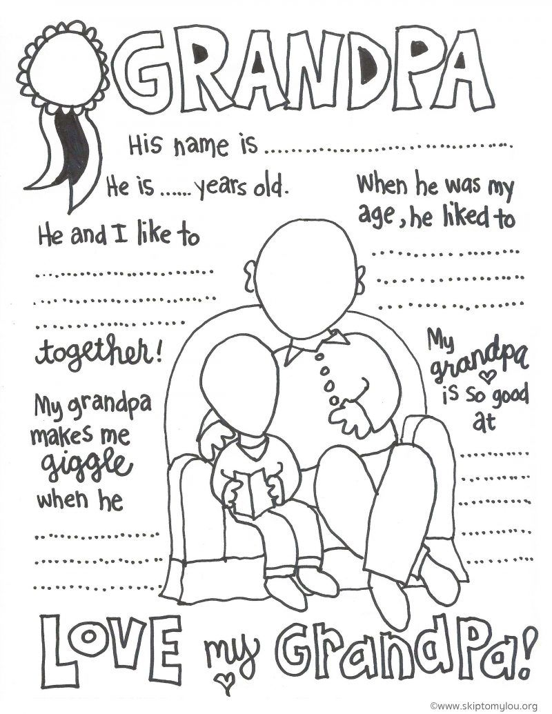 The Cutest Grandparents Day Coloring Pages | Gifts | Pinterest - Free Printable Fathers Day Coloring Pages For Grandpa