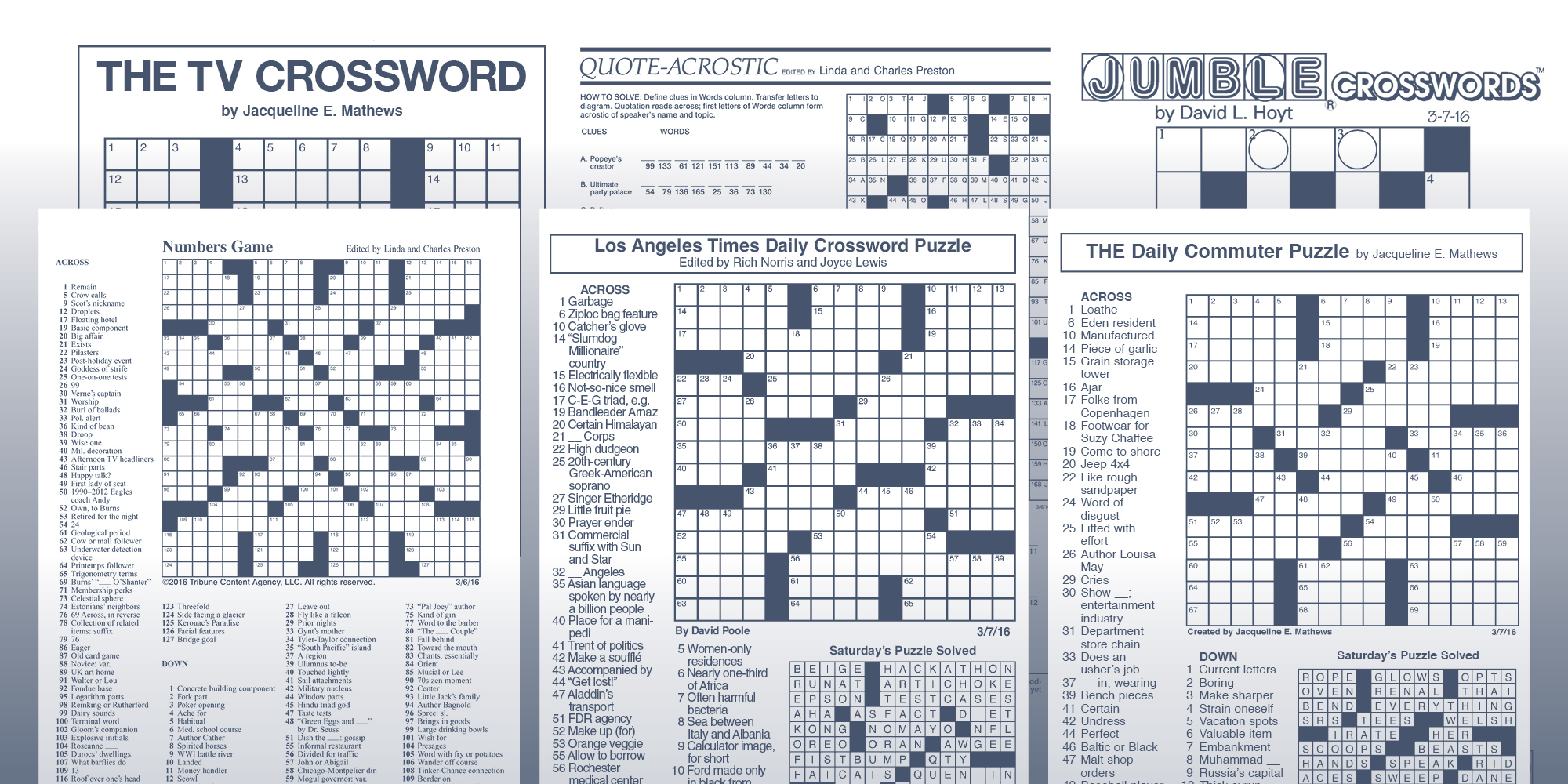 The Daily Commuter Puzzlejackie Mathews | Tribune Content Agency - Printable Newspaper Crossword Puzzles For Free