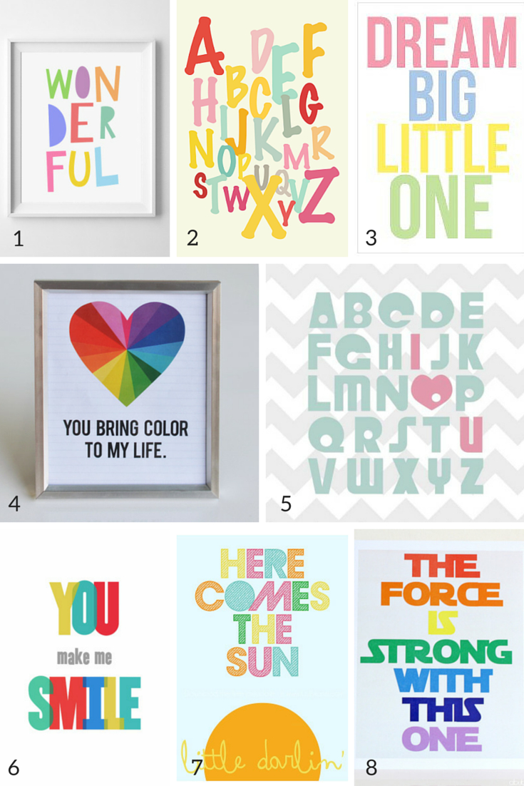 The Definitive Guide: 100 + Free Nursery Art Printables | Nursery - Free Printable Nursery Resources