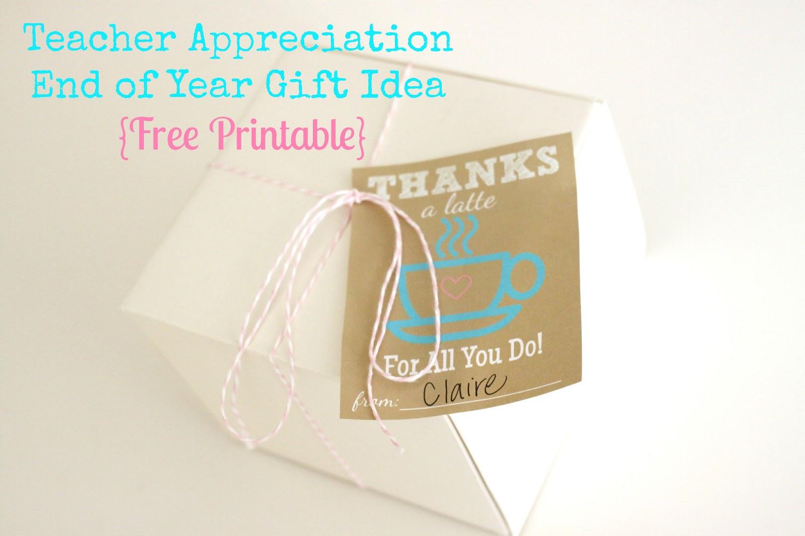 The Larson Lingo: Thanks A Latte {Free Printable} - Thanks A Latte Free Printable Gift Tag