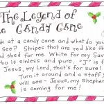 The Legend Of The Candy Cane   Free Printable | Christmas   Free Printable Candy Cane Poem