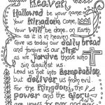 The Lord's Prayer For Children Printable | The Lord S Prayer   Free Printable Lord's Prayer Coloring Pages