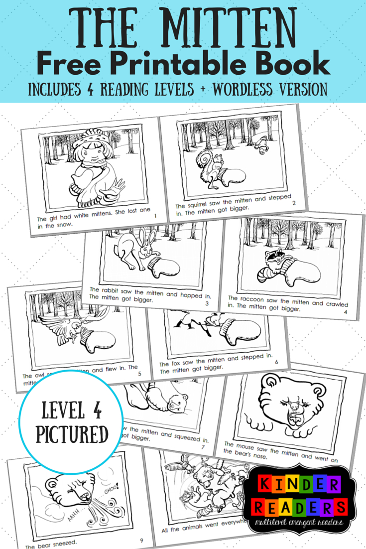 The Mitten Activities To Go With The Book! | Music Therapy - Free Printable Kindergarten Level Books