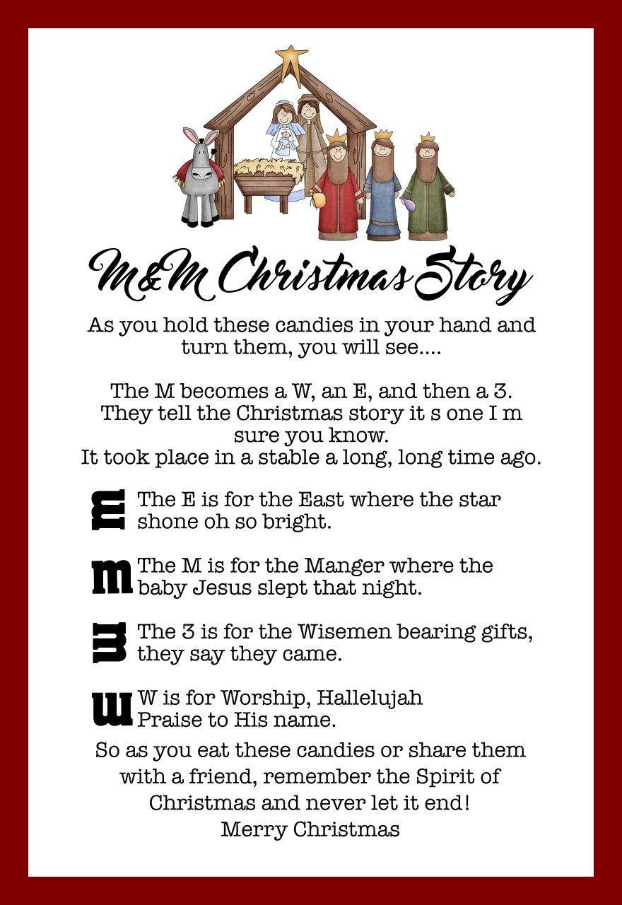 The M&m Christmas Story - Over 8 Free Printables   Christmas Ideas - Free Printable Nativity Story