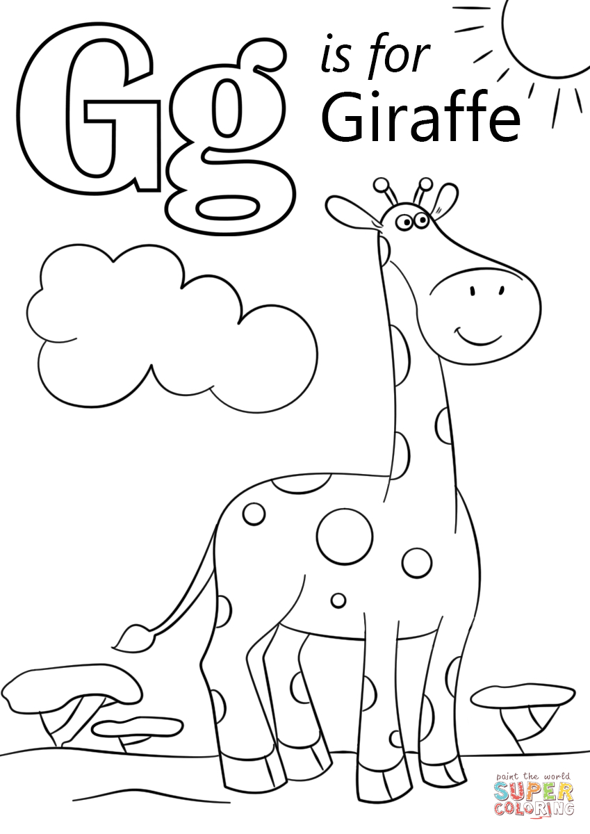 The Most And Interesting Letter G Coloring Page | Work | Pinterest - Free Printable Letter G Coloring Pages