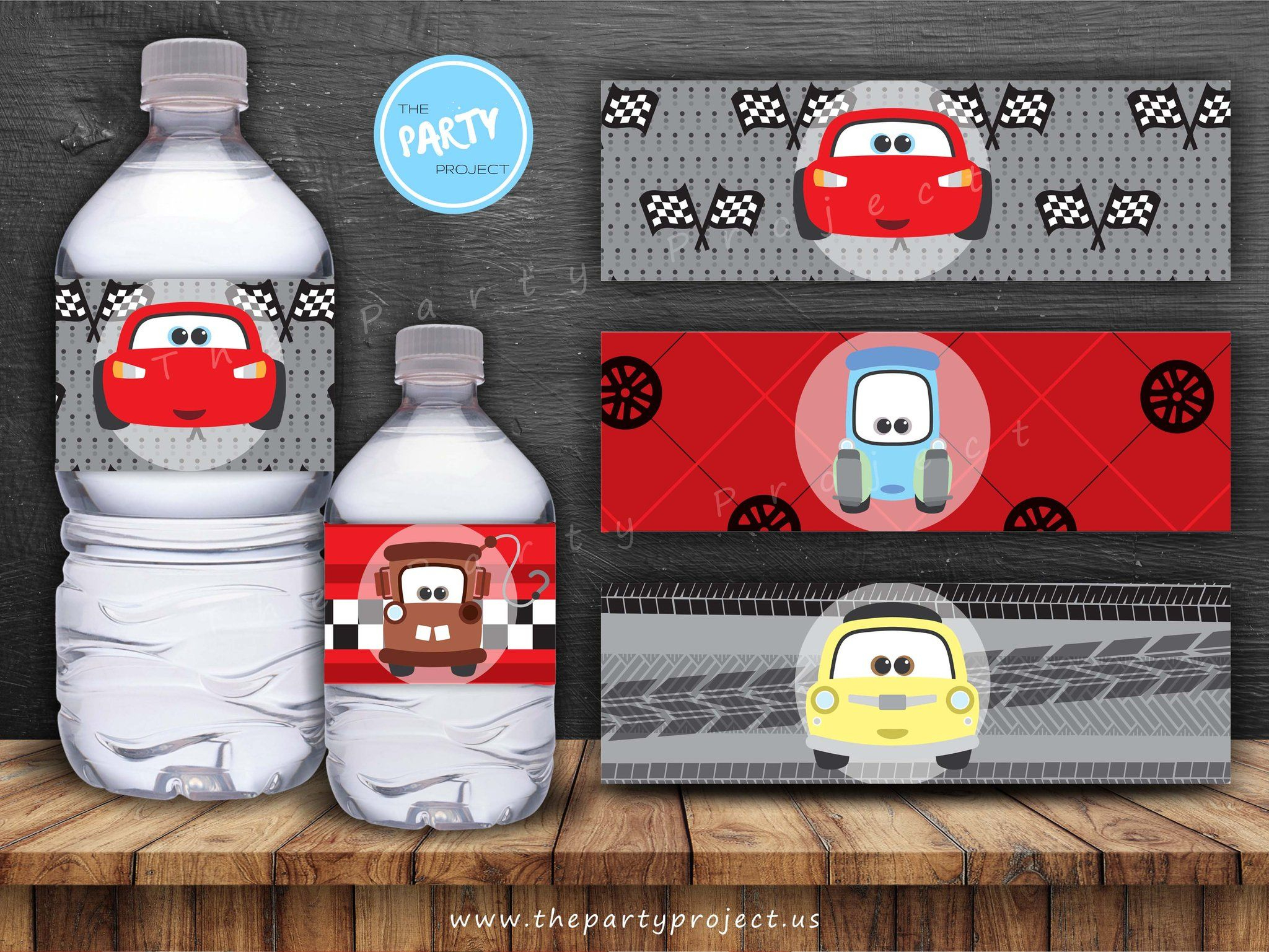 The Party Project | Cars 3 Party Printables | Cars Birthday Set - Free Printable Cars Water Bottle Labels