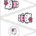 The Vintage Farmhouse: Hello Kitty Party & Free Printables | Для   Free Printable Hello Kitty Pictures