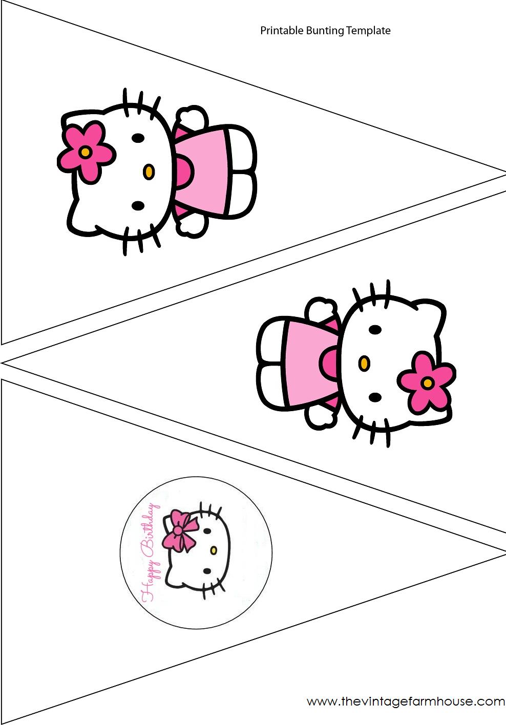 The Vintage Farmhouse: Hello Kitty Party & Free Printables | Для - Free Printable Hello Kitty Pictures