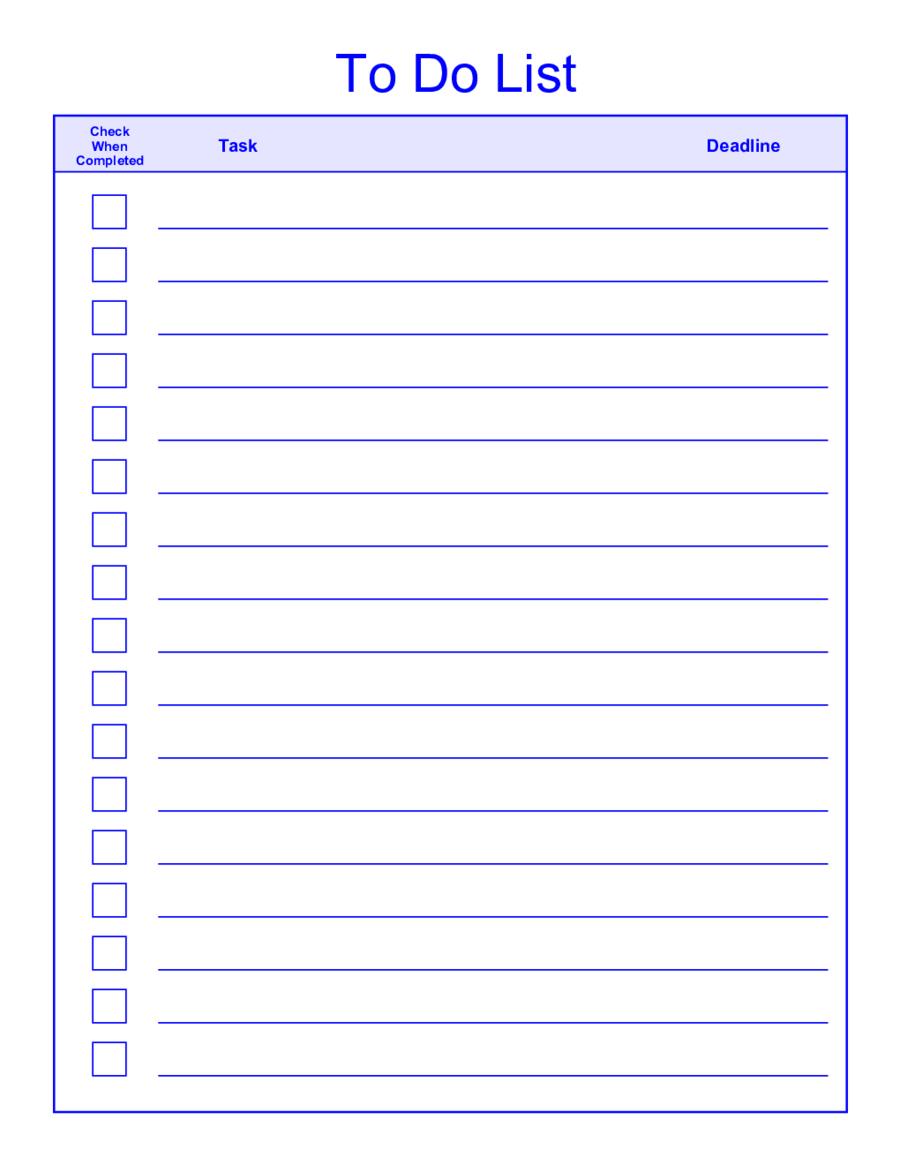 Things-To-Do-List-Template-Pdf - Free Printable To Do List Pdf