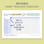 This Free Printable Habit Tracker Will Help You Reach Your Goals   Habit Tracker Free Printable