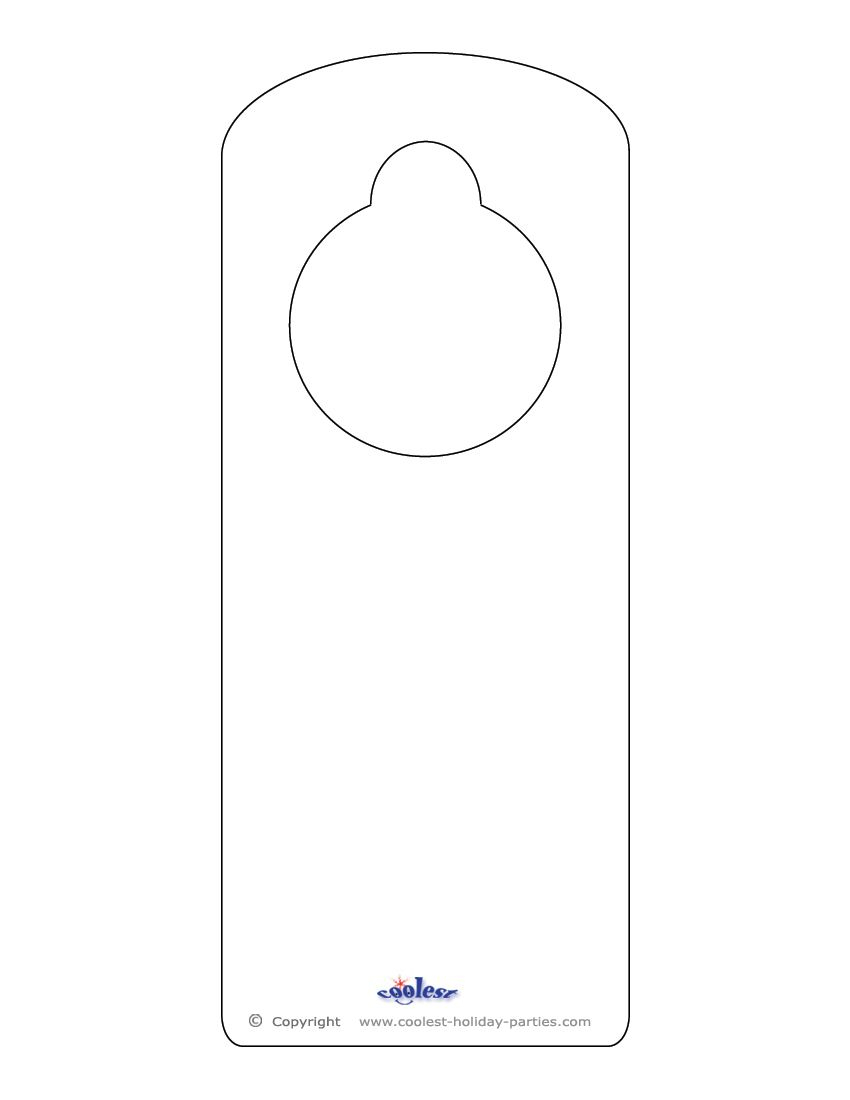 This Printable Doorknob Hanger Template Can Be Decorated However You - Free Printable Door Knob Hanger Template