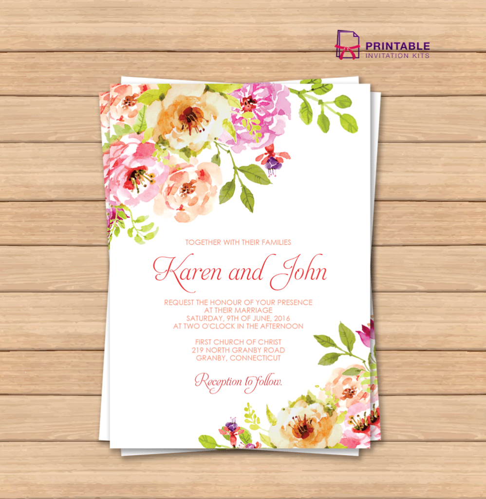 This Would Be Great With Different Colors Free Pdf Wedding - Wedding Invitation Cards Printable Free