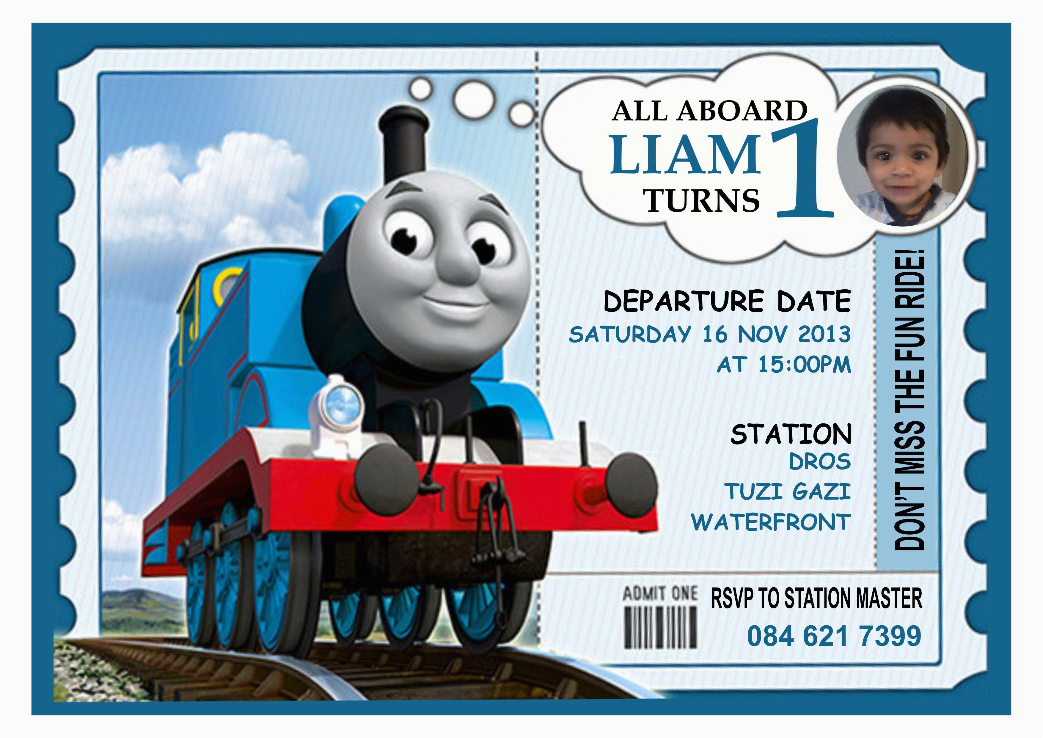 Thomas Birthday Invites 9 Train Birthday Invitations For Kid Free - Thomas Invitations Printable Free