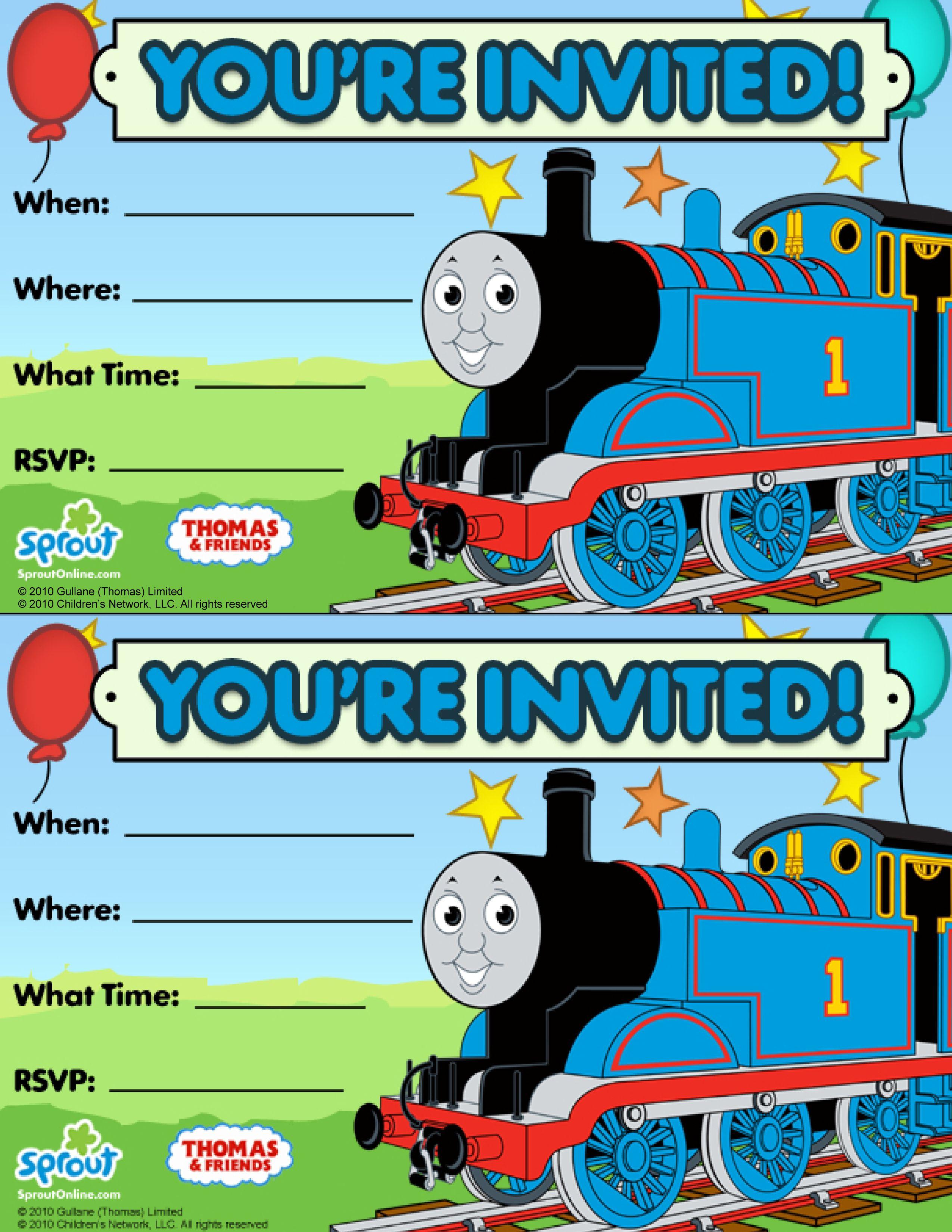 Thomas & Friends Party Invitation: Free | Birthday Party Ideas - Thomas Invitations Printable Free