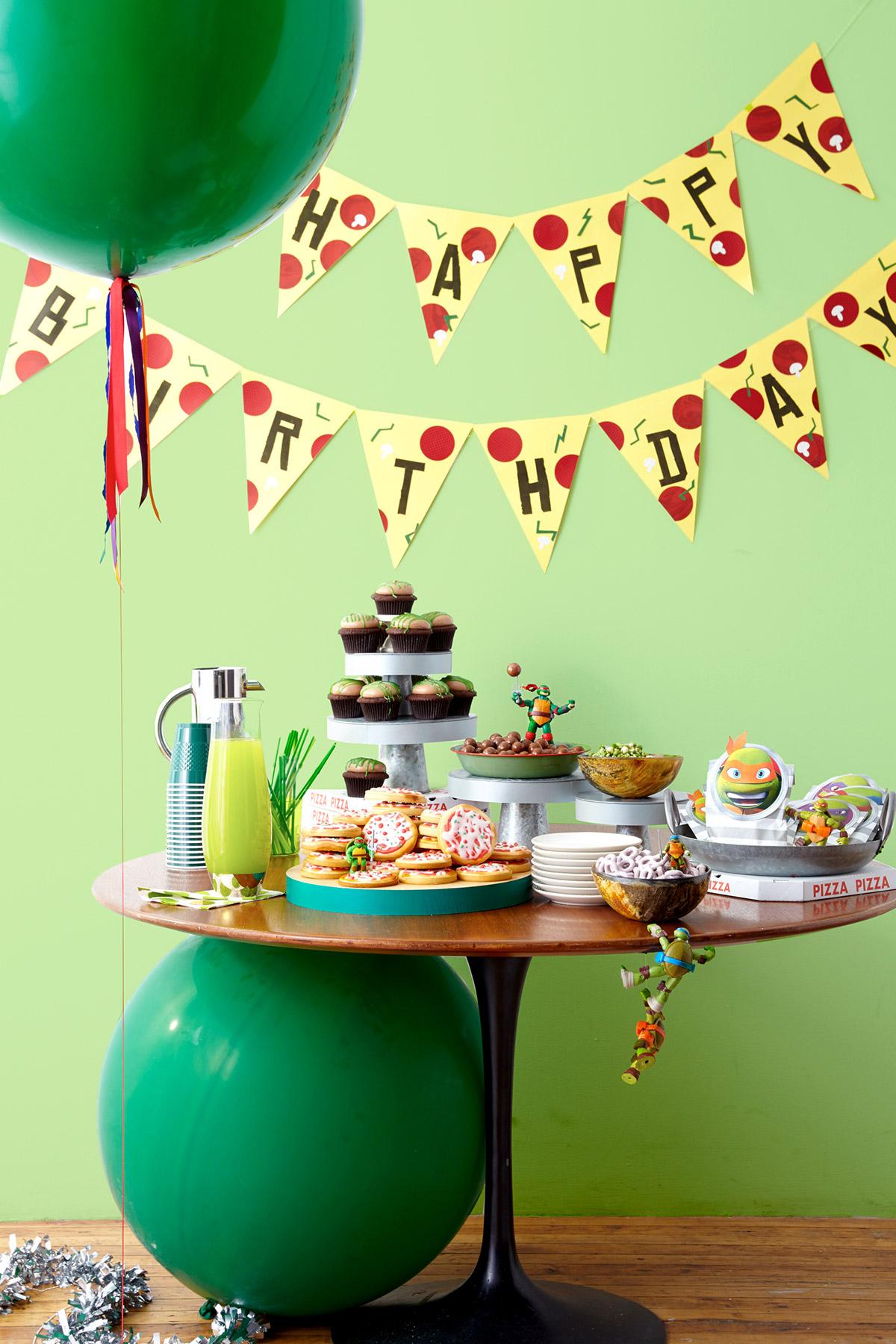 Throw A Ninja Turtles Birthday Party! | Nickelodeon Parents - Free Printable Ninja Turtle Birthday Banner