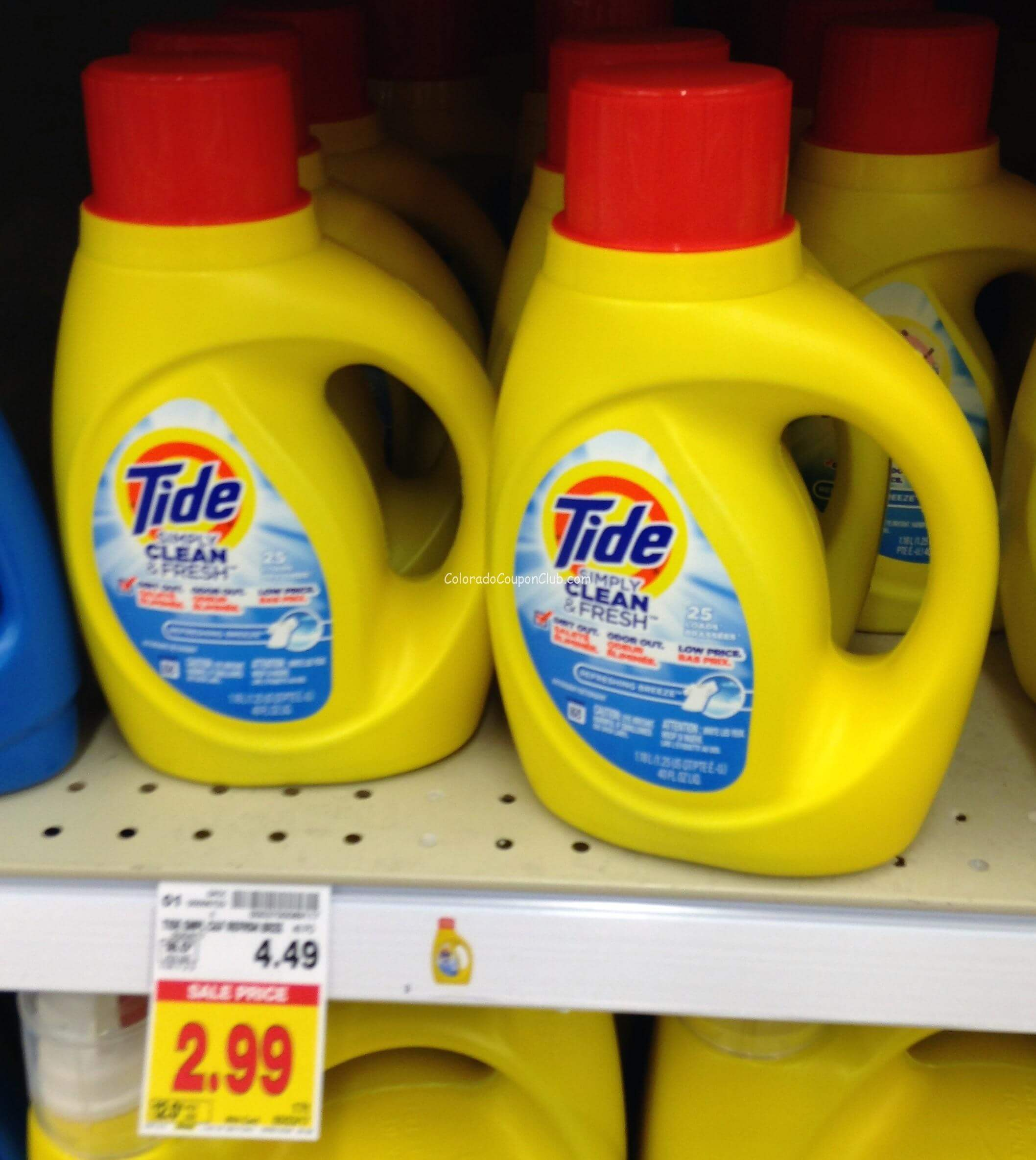 Tide Simply Detergent, Only $2.49 At King Soopers! - Colorado Coupon - Free Printable Tide Simply Coupons