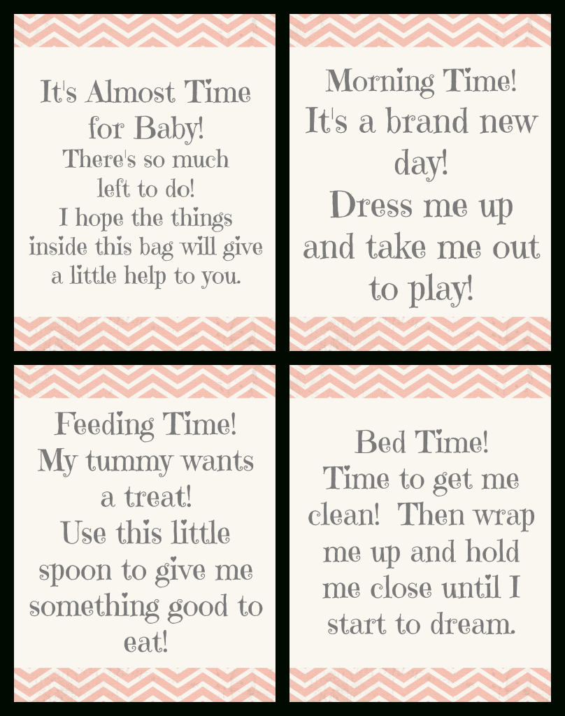 """Time For Baby"""" Shower Gift + Free Printable Gift Tags   Gift Ideas - Free Printable Baby Shower Gift Tags"""