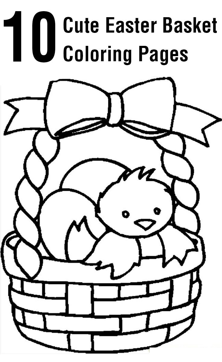 Top 10 Free Printable Easter Basket Coloring Pages Online | Coloring - Free Printable Easter Basket Coloring Pages