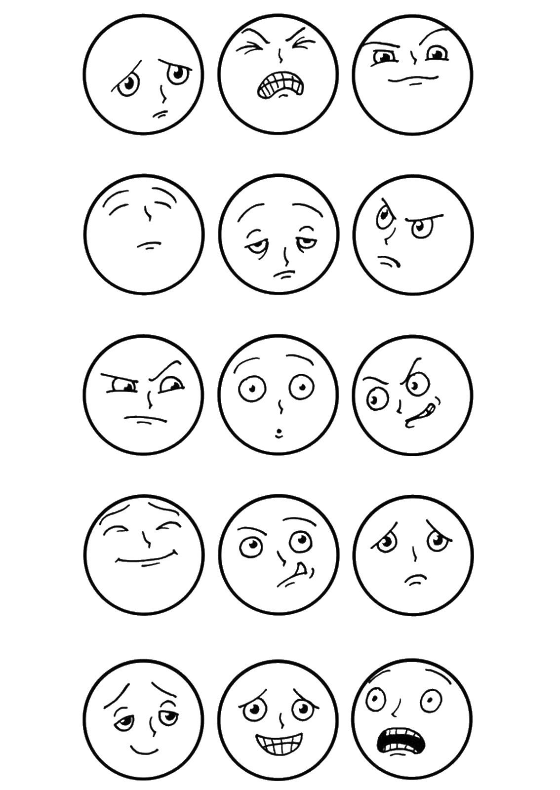 Top 20 Free Printable Emotions Coloring Pages Online | Coloring - Free Printable Pictures Of Emotions