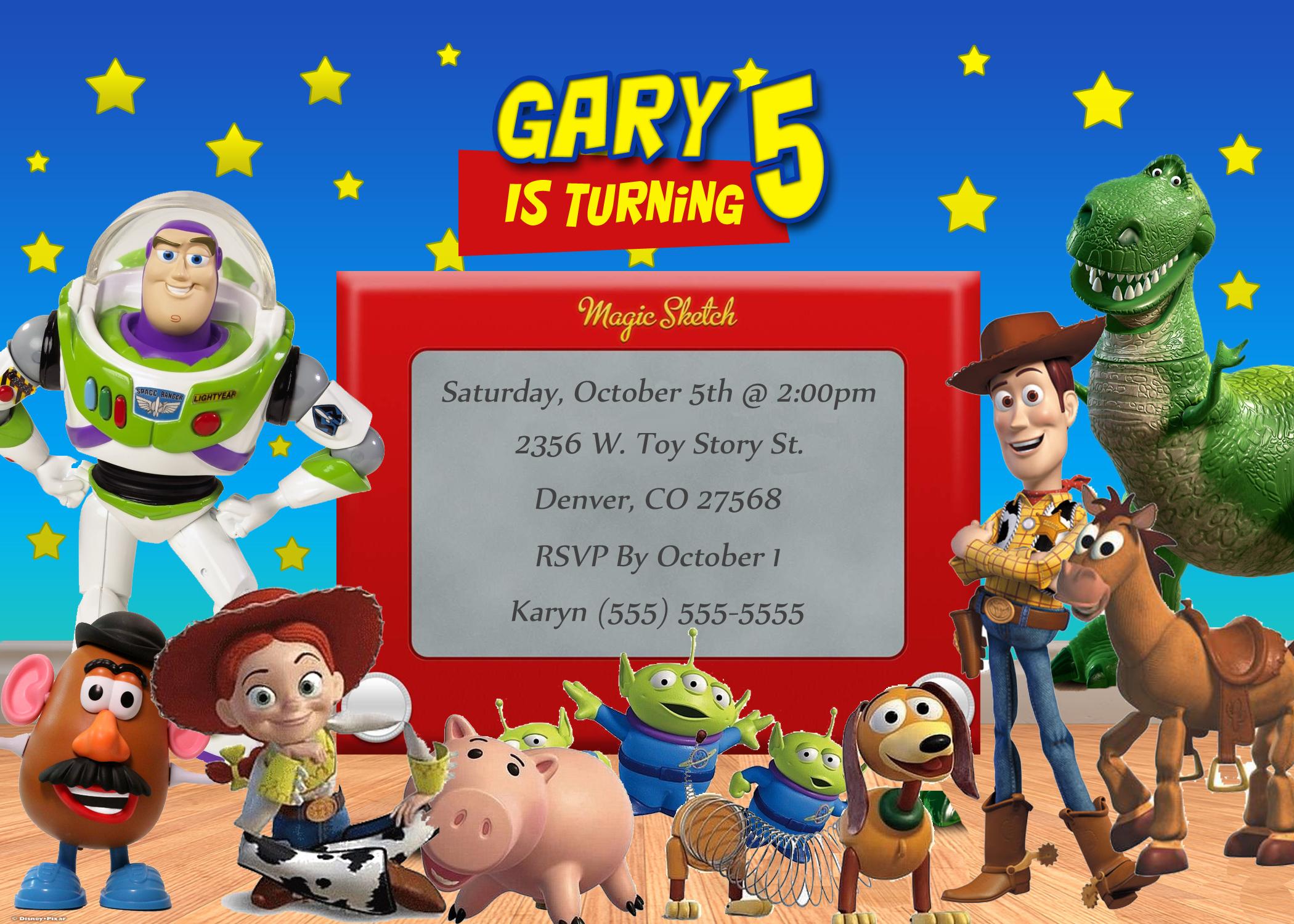 Toy Story Birthday Invitation | Kustom Kreations - Free Printable Toy Story 3 Birthday Invitations