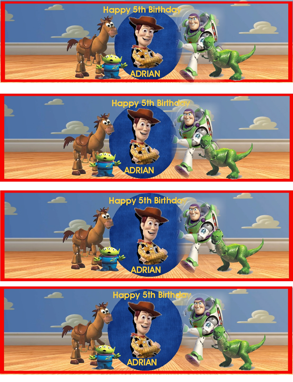 Toy Story ~ Water Bottle Lables | Digital Scrapbooking At Scrapbook - Free Printable Toy Story Water Bottle Labels