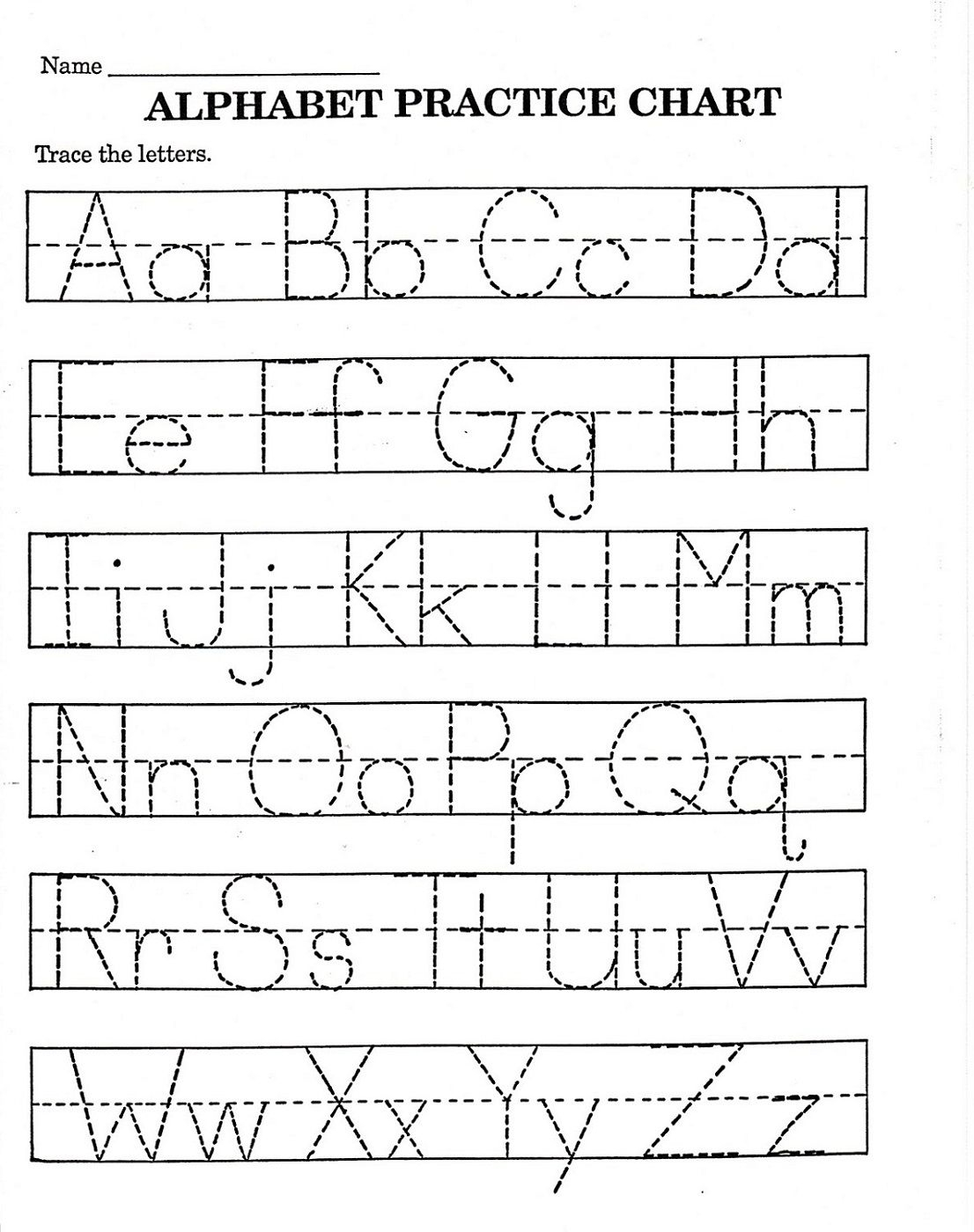 Trace Letter Worksheets Free | Reading And Phonics | Alphabet - Free Printable Alphabet Worksheets For Kindergarten