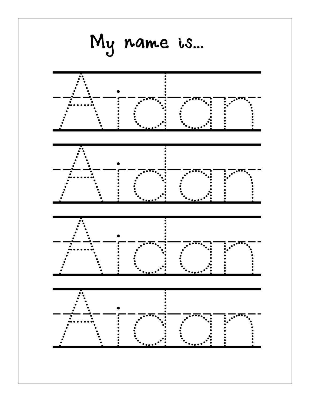 Trace Your Name Worksheet Printable Kiddo Shelter | Best Worksheet - Free Printable Name Tracing Worksheets