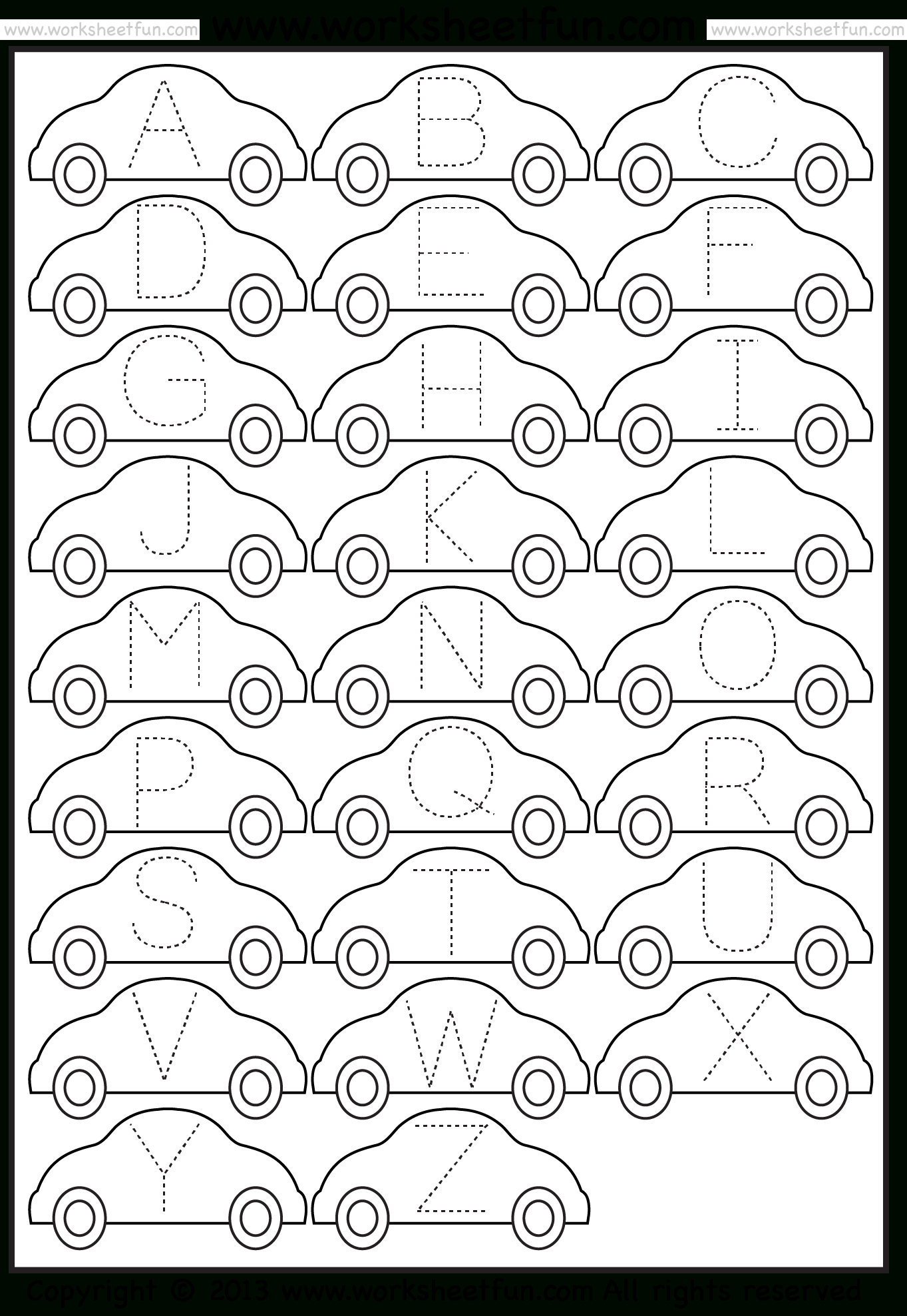 Tracing – Letter Tracing / Free Printable Worksheets – Worksheetfun - Free Printable Alphabet Pages