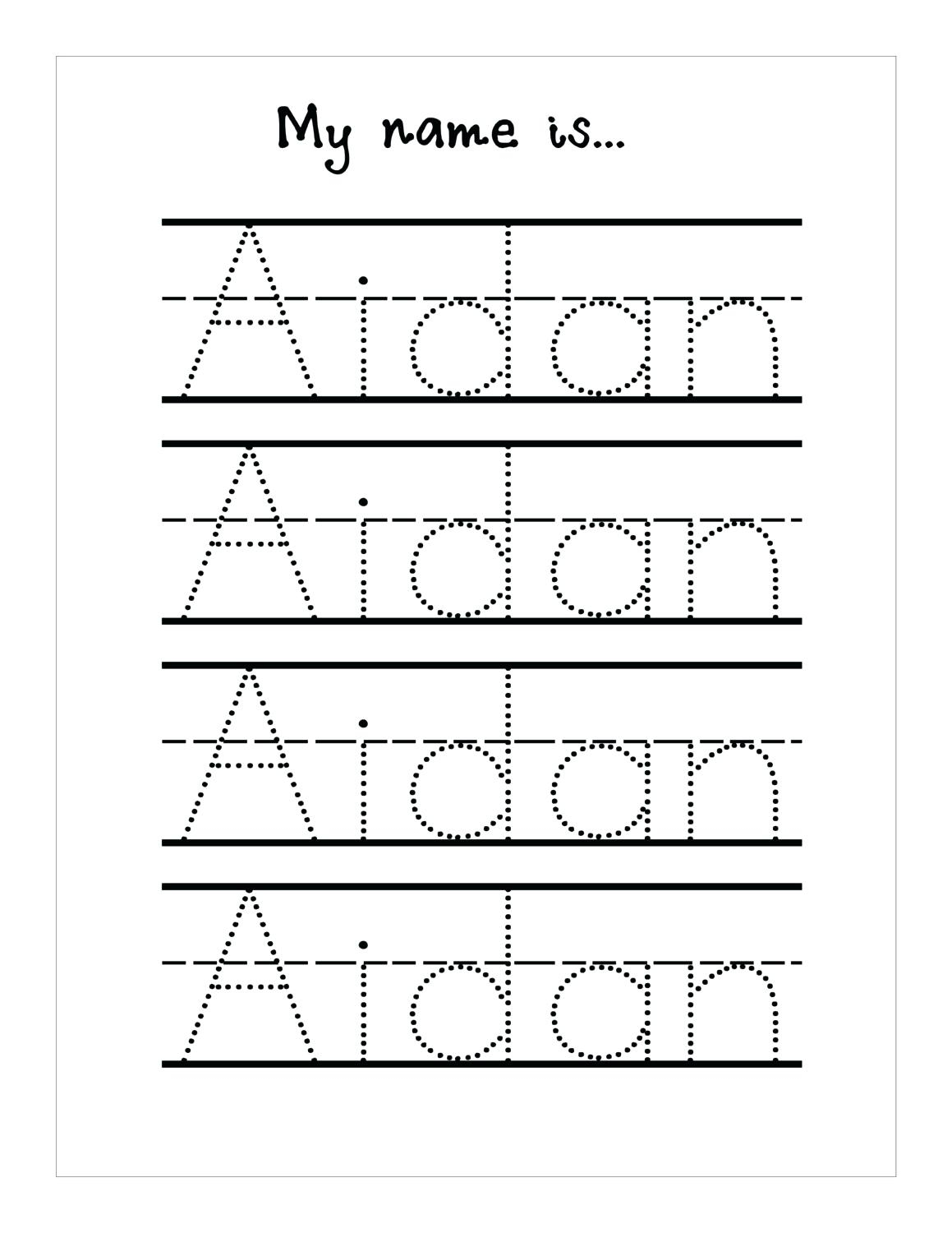 Tracing Name Sheets Handwriting Worksheetsseason Tracing Sheets - Free Printable Name Tracing